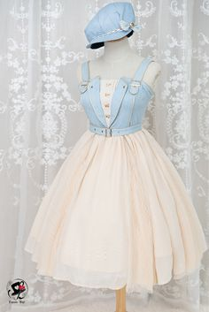 Lolita fashion - Accordion Cowboy Style JSK by Fantastic Wind,homecoming – Lolita fashion Pretty Outfits, Pretty Dresses, Beautiful Dresses, Cool Outfits, Elegant Dresses, Sexy Dresses, Casual Dresses, Summer Dresses, Mini Dresses