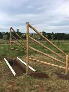 Cross country jump at Ukhuthula Equestrian Centre, South Africa. Ditch
