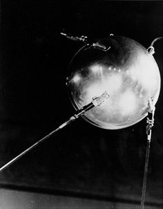 sputnik the first artificial satellite launched Oct 4, 1957 by the USSR. I would listen to it beep on shortwave, and watch it go overhead.