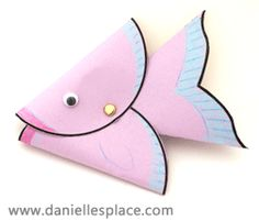 Fish with Coin in it's Mouth Bible craft For Sunday School from www.daniellesplace.com