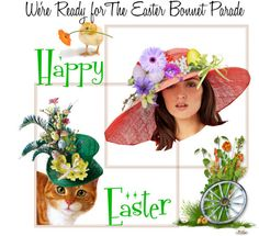 The Easter Bonnet Parade by auntiehelen featuring mini hats