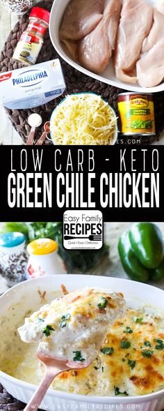 Bajo en carbohidratos – Keto Green Chile Chicken · Recetas familiares fáciles Source by Related posts: 12 Mouth-Watering Low Carb Dinner Recipes That Are Easy To Make Ketogenic Recipes, Low Carb Recipes, Cooking Recipes, Healthy Recipes, Ketogenic Diet, Keto Foods, Keto Meal, Easy Mexican Food Recipes, Healthy Meals
