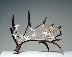 Antler Carvings - ✖️More Pins Like This One At FOSTERGINGER @ Pinterest✖️