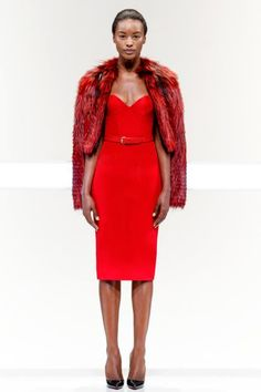 Mathieu Mirano - Spring/Summer 2014 Collection #runway #Cayenne #Red #dress