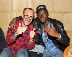Terry Richardson and Theophilus London give us the thumbs-up at the Kanon-sponsored Downtown for Democracy
