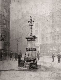 Aldgate Pump, London __ Aldgate Pump still is a historic water pump in London, located at the junction where Aldgate meets Fenchurch Street and Leadenhall Street.