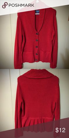 Red dressy sweater NWT | Christmas parties, D and Lace