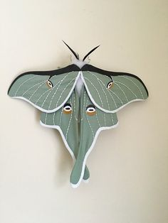 Luna Moth Soft Sculpture, Textile Art, Fiber Art by MollyBurgessDesigns
