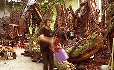 this is exactly what I would do if I was on the Hobbit set.<<I love the fact that his job is to throw leaves around the hobbit set Thranduil, Legolas, Gandalf, Lotr, Trauma, O Hobbit, J. R. R. Tolkien, Into The West, And So It Begins
