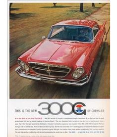 Another version of the 1961 Chrysler 300G ad