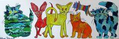 Nu in de #Catawiki veilingen: Elena Polyakova - Katten in de wereld