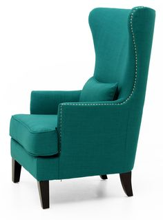 Comfy Oversized Chair With Ottoman Key: 9423380798 Mid Century Modern Armchair, Mid Century Dining Chairs, Teal Chair, Oversized Chair And Ottoman, Layout, Wing Chair, Vintage Chairs, Küchen Design, Wingback Chair