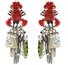 """Boucles d'oreilles Taratata """"Marmitte"""" : des bijoux ludiques et colorés sur le thème de la cuisine. http://www.bijouterie-influences.com/search.php?search_query=marmitte"""