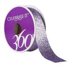 "360° Glitter Ribbon by Celebrate It, 7/8"""