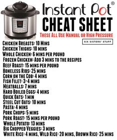 How to Convert Recipes into Instant Pot Recipes | Six Sisters' Stuff