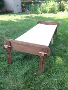 Made of poplar or maple construction, these sturdy camp cots are perfect for the reenactor or anyone who enjoys sleeping under the stars. The