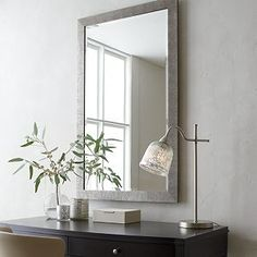 Bathroom Mirrors Crate And Barrel odette wall mirror | iron, crates and barrels