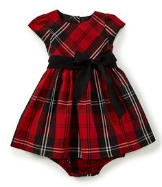 d4a3828a0504 Ralph Lauren Childrenswear Baby Girls 3-24 Months Plaid Taffeta  Fit-And-Flare