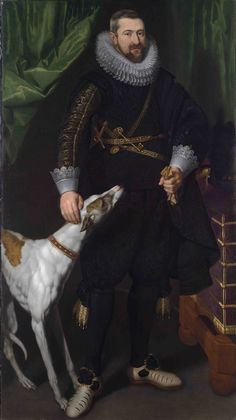 Flemish School, Portrait of Charles-Alexandre de Croÿ, Marquis d'Havré and Duc de Croÿ (1581 - 1624), Chamberlain to Archduke Albert, Governor and Sovereign Prince of the Spanish Netherlands. c. 1610, Weiss Gallery.