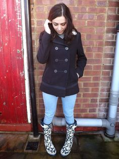 What Cat Says: What Cat Wore | Evercreatures What Cat, Wellington Boot, Lifestyle Blog, Rain Boots, Style Inspiration, Coat, How To Wear, Jackets, Women