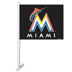 2 Sided Car Flag   Miami Marlins
