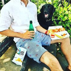 YES the dog did take my food right after taking this shot. Preppy Men, Preppy Look, Preppy Style, My Style, Preppy Outfits, Spring Outfits, New England Prep, David Gandy, Summer Looks