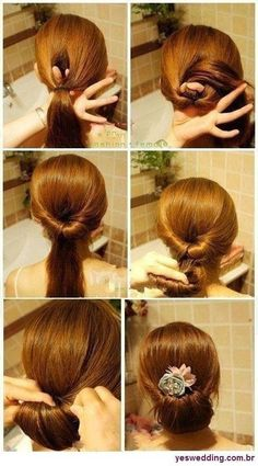 cabelo preso ♥ – beautiful hair styles for wedding Prom Hairstyles, Pretty Hairstyles, Easy Hairstyles, Party Hairstyle, Hairdos, Style Hairstyle, Greek Hairstyles, Hairstyle Pics, Tips Belleza
