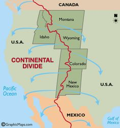 Continental Divide Trail Maps Continentaldivides Bathroom - Interactive map of the continental divide in the us