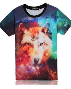 Women Men T-Shirt 3D Print Short Sleeve Tee Top Summer Painting Horse Plus size