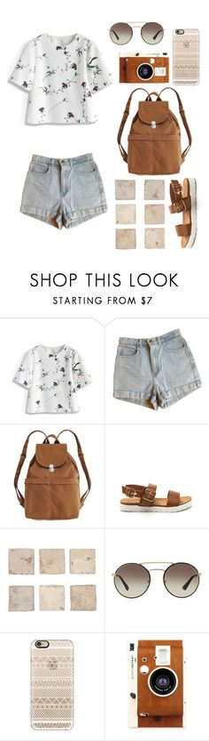 """Out to meet some friends"" by patience-zacheus ❤ liked on Polyvore featuring Chicwish, American Apparel, BAGGU, Prada, Casetify and LØMO"