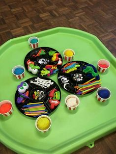 A Tuff Tray, also known as a Tuff Spot, may not look like much at first glance, but the more we got playing with it, the more it became apparent… Monster Activities, Playdough Activities, Nursery Activities, Toddler Activities, Outdoor Activities, Toddler Games, Montessori Activities, Outdoor Games, Art Activities