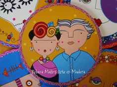 Frida Kahlo y Diego Rivera   por rebeca maltos