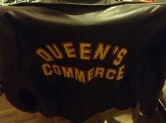 Queen's University (Queen's Commerce) leather jacket 。L