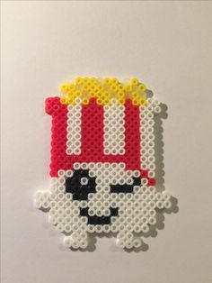Shopkin, Poppy Corn, perler beads