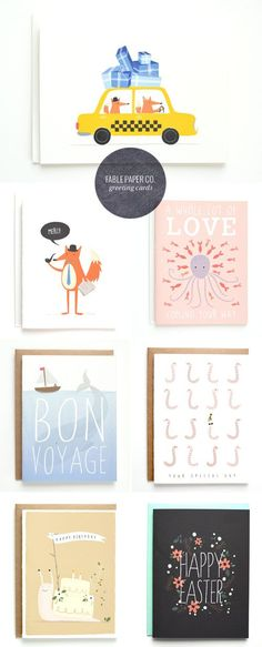 Illustrated and Hand Lettered Greeting Cards   Fable Paper Co.