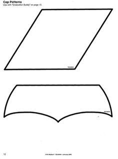 Hilaire image in printable graduation cap pattern