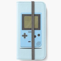 'Blue Nintendo Game Boy ' iPhone Wallet by SinandTonic Iphone Wallet, Iphone 6, Iphone Cases, Game Boy, Open Book, Nintendo Games, 6s Plus, Adhesive, Printed