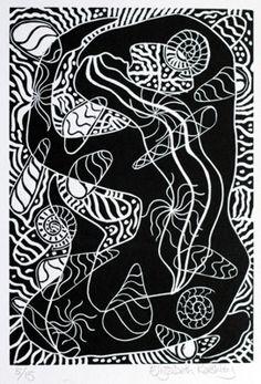 Linocut by Elizabeth Rashley