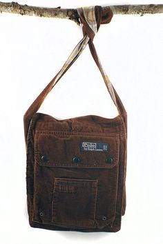 b6030c0919 Oh Polo Mio Upcycled Crossbody Small Messenger or Field Bag