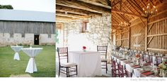 Rustic barn wedding reception with great room for cocktails outside and dinner inside. Seats up to 200 at About Thyme Barn in Baileys Harbor, WI | Door County Weddings & Events