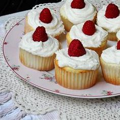 Raspberry White Chocolate Buttercream Cupcakes *