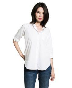 Women's French Poplin Boyfriend Shirt - French Poplin - WOMEN - GRANA: Wardrobe essentials made from the world's best fabrics