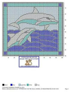 DOLPHINS SWIMMING FRAMED by JODY -- WALL HANGING