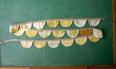 Candace Todd banners out of vintage bed sheets