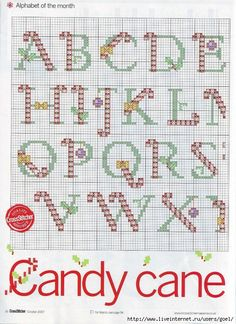 Candy Cane Alphabet 1