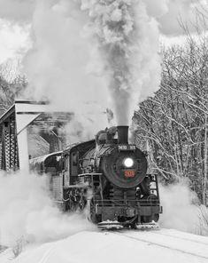 Steamy Winter Scene
