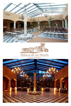 Patio acristalado de día / Patio acristalado de noche 50 Wedding Anniversary Gifts, Pergola, Outdoor Structures, Patio, Sweet, Hotels, Restaurants, Palaces, Night
