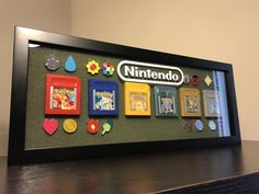 My Pokemon Gameboy Game Shadow Box with Badges!!! - Imgur