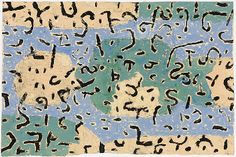 Paul Klee 'Wald' (Forest) 1928 Gouache and colored paste on newsprint paper mounted on cardboard 35 x 50 cm