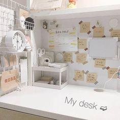Study Room Decor, Study Rooms, Room Setup, Study Desk, Cute Bedroom Ideas, Room Ideas Bedroom, Bedroom Decor, Desk Inspiration, Desk Inspo